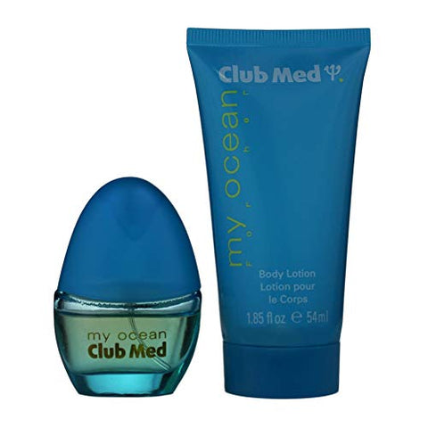 Coty Club Med My Ocean 2 Pc. Gift Set (Eau De Toilette Spray .33 Oz + Body Lotion 1.85 Oz) for Women By Coty, 59 Fl Oz