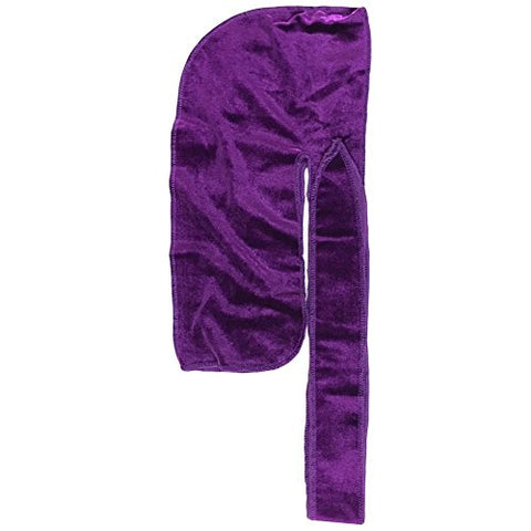 The Mane Velvet Durag XL Straps for 360 Waves Men Durag All Colors