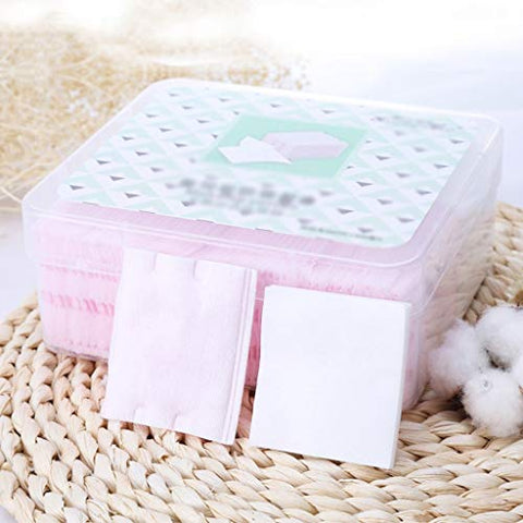 Face Make-up Removers 460pcs Organic Makeup Cotton Pads Nail Cosmetic Cotton Wipes Face Facial Tissue Remover Wipes Nail Napkin Makeup Pad (Color : Pink+White, Size : 5.25.9cm)