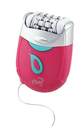 Emjoi eRase e60 Dual Opposed Heads 60-Disc 2-in-1 Electric Epilator Tweezer with Shaver/Trimmer and Sensitive Attachments - Pink