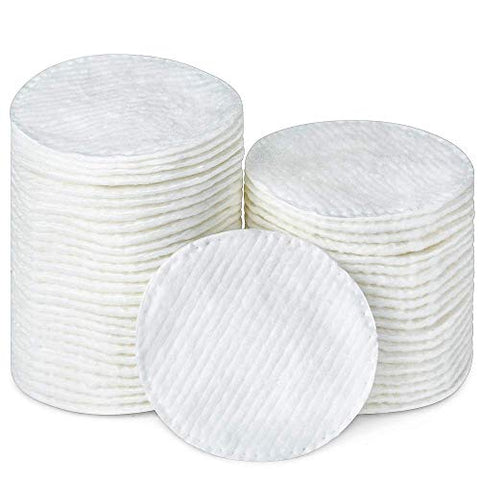 R-NEU Cotton Rounds, 400 Count Makeup Remover and Facial Cleansing Round Cotton Pads, Waffle Textured Hypoallergenic 100% Natural Cotton Wipes, 2.25 Inch Diameter (400 Pack)