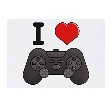 Azeeda Large 'I Love Gaming' Temporary Tattoo (TO00000656)