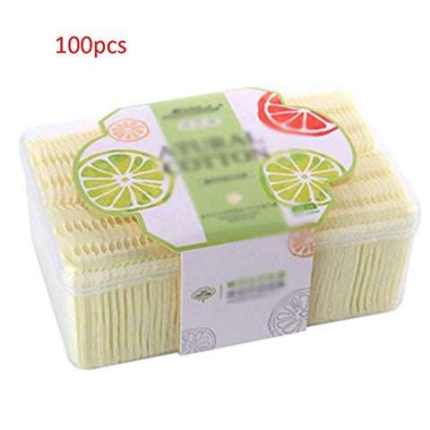 Face Make-up Removers Make Up Natural Cotton Pads Women Facial Cleaning Makeup Puff Cosmetic Makeup Remover Wipes Face Wash Cotton Pads (Color : Yellow, Size : 56cm)