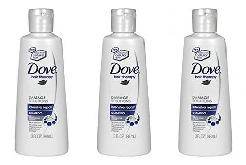 Dove Intensive Hair Therapy Repair Shampoo Travel Size 3 fl oz (Pack Of 3)