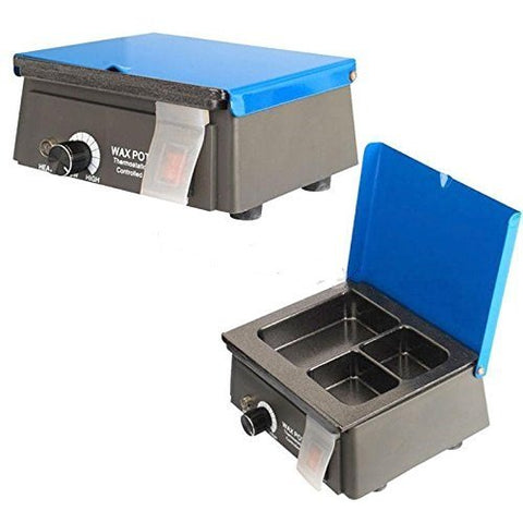 Doc.Royal Lab 3 Well Wax Heater Wax Heating Analog Dipping Pot Melting Melter 110V (US Stock)