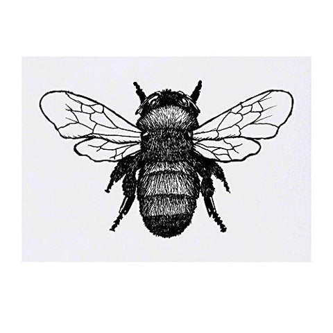 Azeeda Large 'Bumble Bee' Temporary Tattoo (TO00017017)