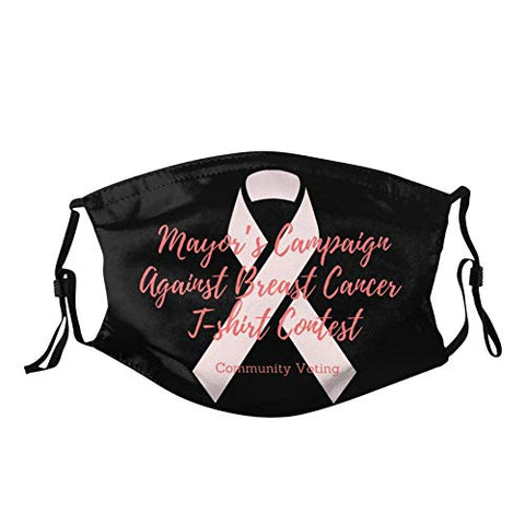 Owill Pink Ribbon Face Bandanas for Breast Cancer Awareness | Faith Hope Love Reusable Washable Face Bandanas Set | Breast Cancer Gifts | Support Survivor (B5 / 3PC)