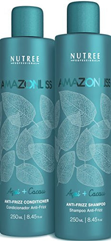Amazonliss Home Care Anti Frizz After Care Post Treatment Shampoo And Conditioner Set   For Keratin