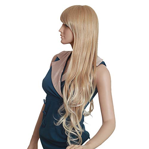 MIPPER Sexy Long Blonde Curly Hair Ladies Wig Big Wavy ...