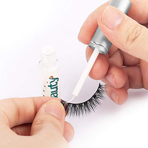 LibeautyFalses Eyelashes Glue Strong Sticky Hold Professional Lash Adhesive Eyelash Extension Glue Suitable for Sensitive Eyes(Transparent)