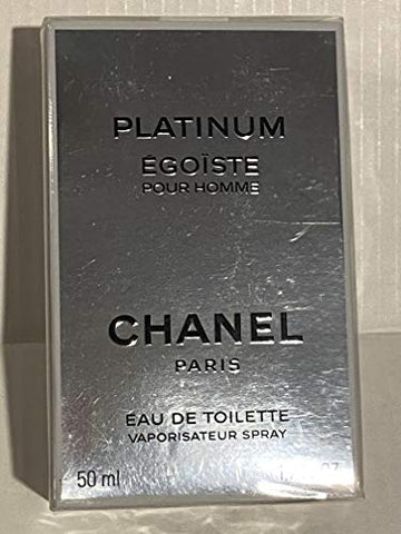 Egoiste Platinum by Chanel for Men, Eau De Toilette Spray, 1.7 Ounce