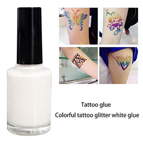 Jungles Glitter Tattoo Kit - Skin-Friendly Glitter Tattoo Glue for Temporary Tattoos - Waterproof Tattoos Kids Teenager Adult Party Accessory & Body Art - 15 ml