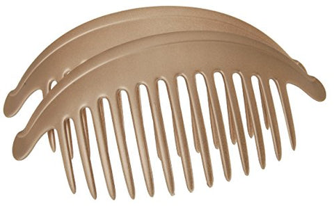 France Luxe Belle Larger Interlocking Comb, Matte Sable, Set of 2 - An Excellent Styling Solution For Long/Thick or Curly Hair