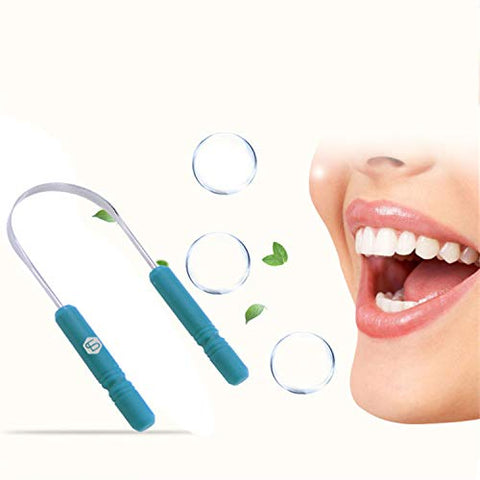Healthy Tongue Cleaner Stainless Steel Silica Handle Tongue Scraper Oral Hygiene Dental Cleaning Brush Oral Care,1Pcs
