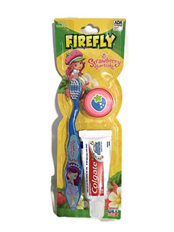 Firefly Strawberry Shortcake Blue Soft Bristle Toothbrush Kit