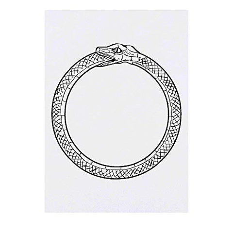 Azeeda Large 'Ouroboros' Temporary Tattoo (TO00016604)