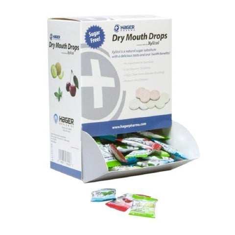 Hager Pharma Dry Mouth Drops with Xylitol, Assorted Pack--156 ea