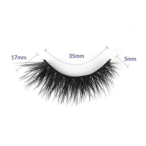 BEPHOLAN Extra Long Dramatic False Eyelashes| Synthetic Fiber Material| 3D Mink Lashes| Reusable| 100% Handmade & Cruelty-Free| XMZ135