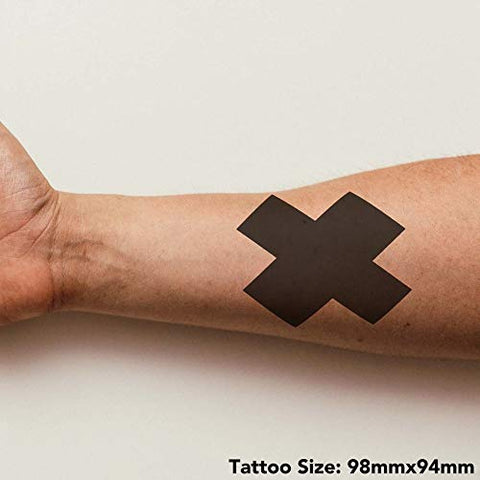 Azeeda Large 'Cross' Temporary Tattoo (TO00018088)