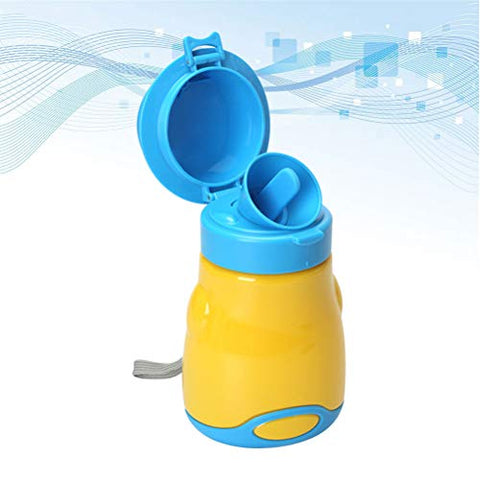 Healifty Emergency ToiletCute Portable Urinal Potty Bottle Toddler Kid Baby Boy Emergency Toilet for Outdoor Car Travel