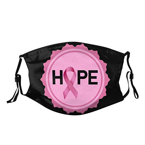 Owill Pink Ribbon Face Bandanas for Breast Cancer Awareness | Faith Hope Love Reusable Washable Face Bandanas Set | Breast Cancer Gifts | Support Survivor (B3 / 3PC)