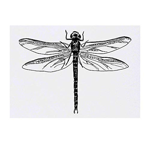 Azeeda Large 'Dragonfly' Temporary Tattoo (TO00019003)