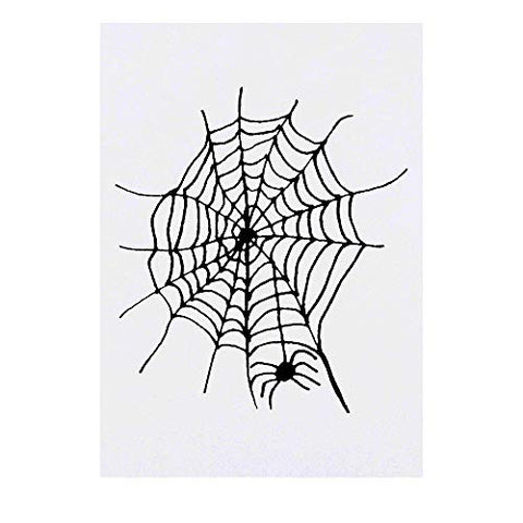 Azeeda Large 'Spider Web' Temporary Tattoo (TO00018298)