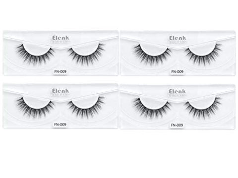 Elenk 3 Dimensional Faux Mink Lashes Natural 4 pairs FN-009