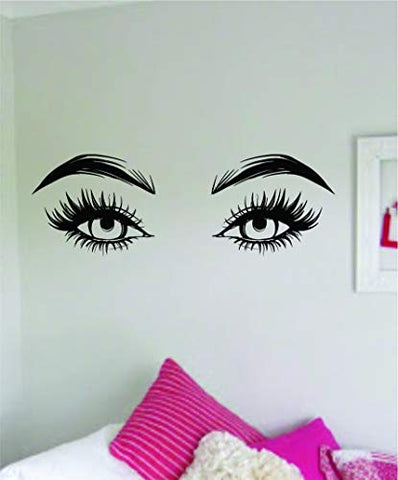 Girl Eyes V9 Wall Decal Sticker Vinyl Art Bedroom Living Room Decor Decoration Teen Girls Beauty Salon Women Beautiful Eyebrows Eyelashes Lashes Brows Make Up Guru Lipstick Sexy MUA Guru Artist