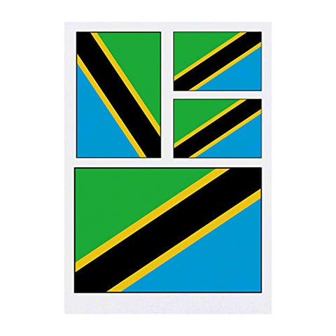 Azeeda 4 x 'Tanzania Flag' Temporary Tattoos (TO00015086)
