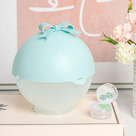 Drametree Personality Creative Plastic Pink Anti-dust Beauty Egg Storage Box Makeup Egg Storage Box Puff Storage Rack (Color : Blue)