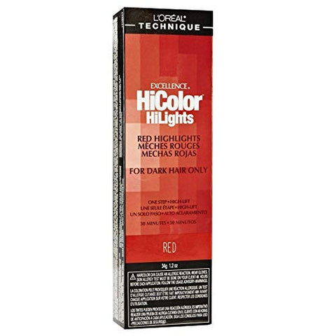 L'Oreal Excellence HiColor Red 1.2 oz (Pack of 6)