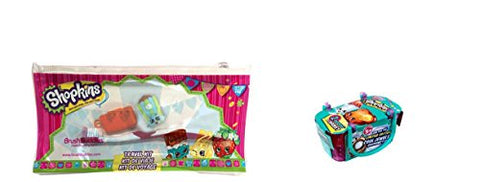 Shopkins Travel Toothbrush Brushing Kit And Bonus Shopkins Season 3 Single Blind Basket Bundle  2 It