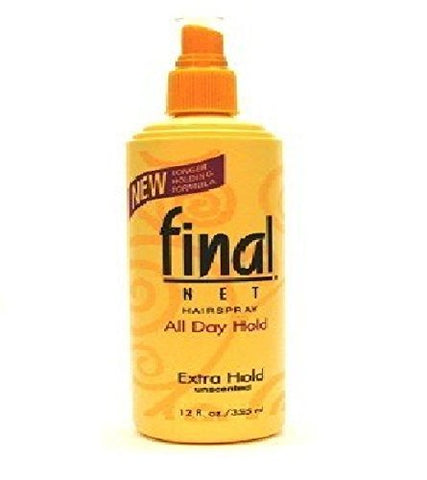 Final Net Non-Aerosol Hairspray, Extra Hold, 12 oz (Pack of 6)