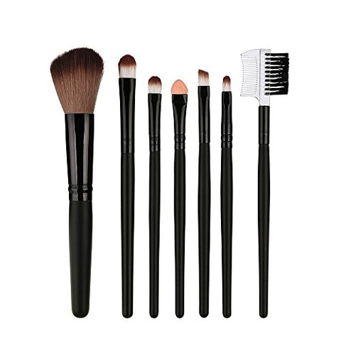 Palarn Makeup, 7 Pcs Wood Makeup Brush EyeShadow Brush Cosmetics Blending Brush Tool