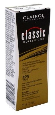 Clairol Pro-Classic Collection 3gn/39g Sunset Brown 2 oz. (Pack of 6)