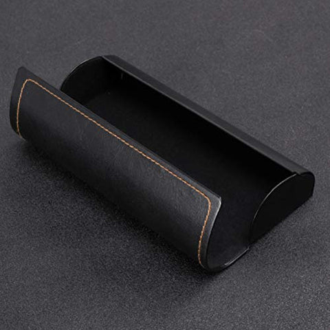 Healifty Magnetic Eyeglasses Case Sunglasses Storage Case Soft Glasses Box Simple Eyeglasses Protector Leather Protective Case Spectacle Cases For Male Female Black