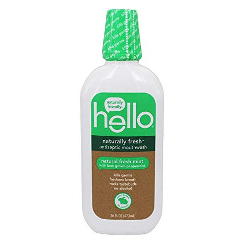 Hello, Mouthwash Antiseptic Naturally Fresh, 16 Fl Oz