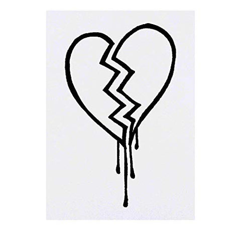 Azeeda Large 'Broken Heart' Temporary Tattoo (TO00018151)