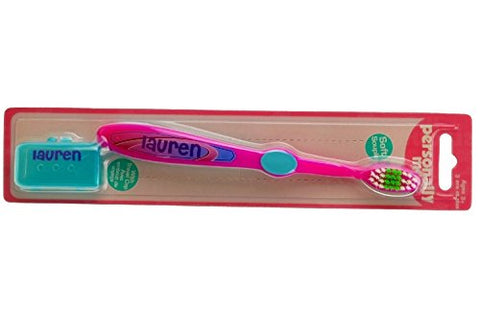 Personally Me Kids Soft Toothbrush Childrens Personalized Name (Lauren)