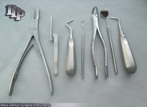 Basic Dental Explorer,Mirror,Elevator,Ruskin Roungers, Surgical DDP Instruments