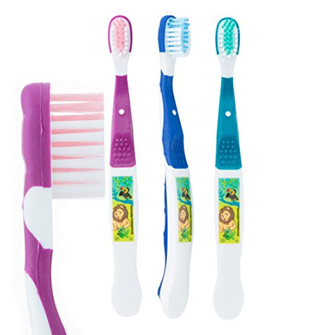 SmileCare Youth Jungle Friends Toothbrushes - Dental Hygiene Products - 48 per Pack