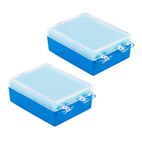 ARTIBETTER 15pcs Denture Case Denture Bath Box False Teeth Storage Box Container Holder for Travel Retainer Cleaning (Blue)