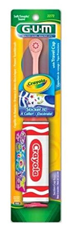 Gum Toothbrush Crayola Power With Stickers (3 Pack)