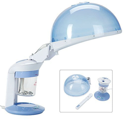 2 in 1 Ozone Mini Facial Steamer Facial Mini Table Top Face & Hair Hot Ozone Steamer Portable Beauty Equipment
