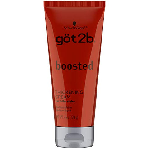 Got2b Boosted Thickening Cream, 6 Ounces, white
