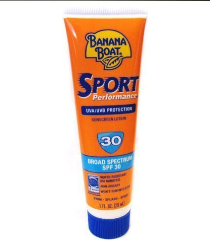 Banana Boat Sport Sunscreen SPF 30 protection, 1 oz Tube