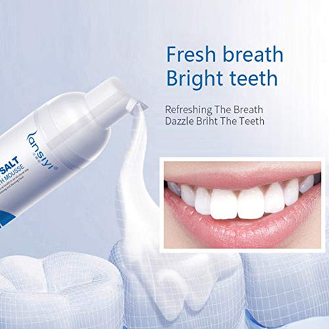 Teeth Whitening Mousse,SUNSENT Sea Salt Whitening Foam Toothpaste,Remove Smoke Tea Stains,Perfect Tooth Whitener Solution