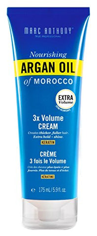 Marc Anthony Argan Oil 3X Volume Cream 5.9 Ounce Tube (175ml) (2 Pack)