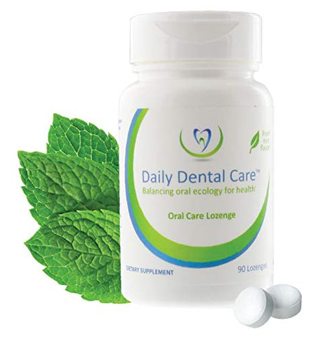 Daily Dental Care Fresh Mint Dental Mints - A Dental prebiotic Smart Mint - superpowering Good Oral Bacteria to Balance The Oral microbiome for Dental Health - 90ct